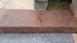 Blockstufen Magadi Rustikal - Rot 100x35x15