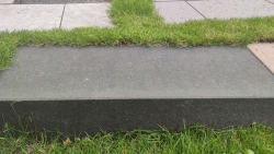 Blockstufen Basalt - Schwarz 100x35x15
