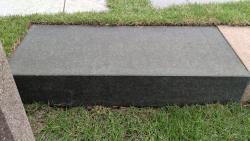 Blockstufen Basalt - Schwarz 200x35x15