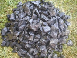 Basaltsplitt 16 - 32 mm Schwarz